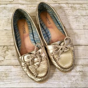 Sperry Top-Sider Shoes Loafers - Gold - Pre-loved